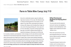 Melissa Bees Welcomes Cascade Mountain School -Farm to Table Bike Camp- to the Garden for Hive Medicine July 12th!